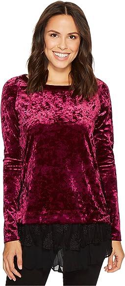 Velvet Lace Inset Top