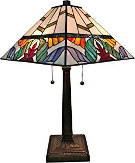 Tiffany Style Table Lamp Banker Mission 22