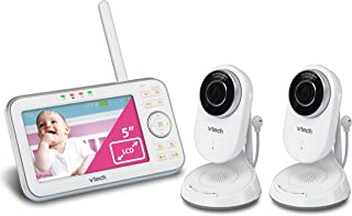 VTech VM5271-2 Video Baby Monitor with 5-inch Screen, Motorized Lens with 6X Optical Zoom, Soothing Sounds & Lullabies, Te...