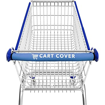 Cover for Grocery Cart Eco-Friendly and Reusable Grey 2 Pack Shopping Cart Handle Cover by Shopex Buggy and Trolley Handles 16 Inches Long Babies and The Environment Safe for Adults