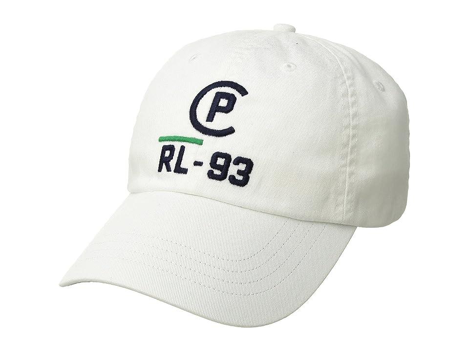 Polo Ralph Lauren CP-93 Cotton Chino Classic Sport Cap (White) Caps