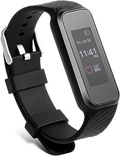 Technaxx Pulsera de Fitness con pulsómetro, Unisex Adulto, Negro, Large