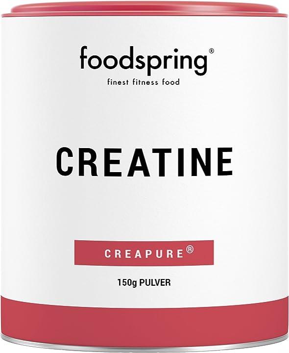 Creatina foodspring in polvere, 150g, booster per lo sviluppo muscolare, prodotto in germania B01MZE8H8B