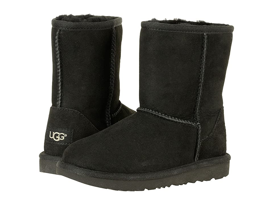 UGG Kids Classic II (Little Kid/Big Kid) (Black) Kids Shoes
