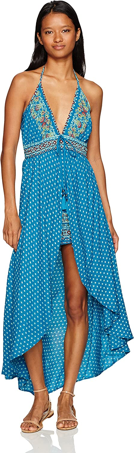 Angie Womens Maxi Printed Romper Jumpsuit
