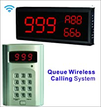 SHIHUI 3 Number Big Display Voice Number Call Host+ Number Keypad Caller Queue Wireless Calling System Number Call 999-Channel for Restaurant Hospital Fast Food Shop Kitchen Call