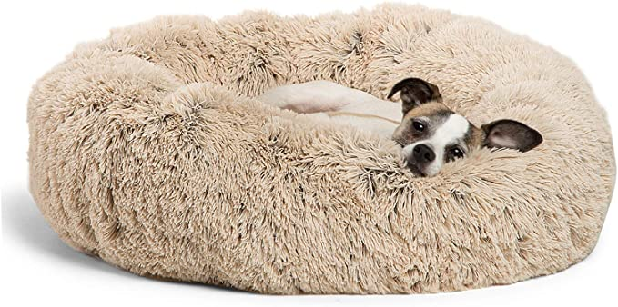Best Friends by Sheri The Original Calming Donut Cat and Dog Bed in Shag Fur   Chewy