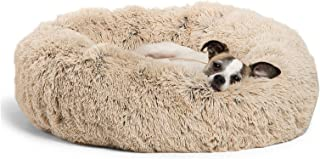 "Best Friends by Sheri DNT-SHG-TAU-2323-VP The Original Calming Donut Cat and Dog Bed in Shag Fur, Small 23""x23"" in Taupe, ..."