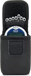 USA Gear Diabetic Supply Case for Glucose Meter and Blood Sugar Tester with Belt Loop and Carabiner - Compatible with Bayer Contour EZ, OneTouch Ultra2, Verio IQ, Accu-Check Aviva, Nano, and More