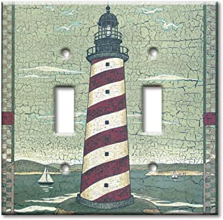 Art Plates - Cape Lighthouse Switch Plate - Double Toggle