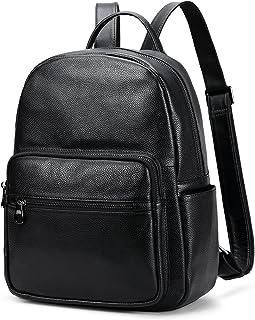 حقيبة ظهر كاجوال يومية من الجلد الحقيقي من Coolcy Hot Style