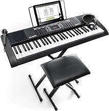 Alesis Melody 61 MKII - صفحه کلید قابل حمل 61 کلید با بلندگوهای داخلی، هدفون، میکروفن، پایه پیانو، استراحت موسیقی و مدفوع