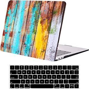 Compatible with MacBook Pro 13 inch Case A2338 M1 A2251 A2289 A2159 A1989 A1706 A1708 DTangLsm Slim Laptop Plastic Hard Shell Case & Keyboard Cover for 13inch MacBook Pro 2020-2016 Release, Woodgrain