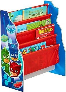 Pyjamasques - Bibliothèque à pochettes pour enfants - Rangement de livres pour chambre d'enfant