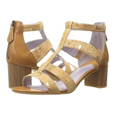 Johnston & Murphy Kallie Back Zip Sandal (Natural Metallic Cork) High Heels