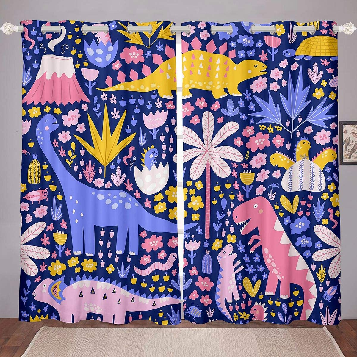 Cartoon Dinosaur Curtains Jungle sold Ranking TOP9 out Animals Bed Window for