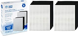 Fette Filter 2-Pack of Premium Quality HEPA Filters Plus 8 Carbon Replacement Filters Compatible with Winix Filter A 115115 Size 21 Plasma Wave air Purifier 5300 6300 5300-2 6300-2 P300 C535