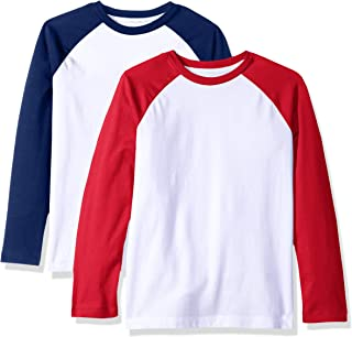 Amazon Essentials Boys 2-Pack Long-Sleeve Raglan T-Shirt