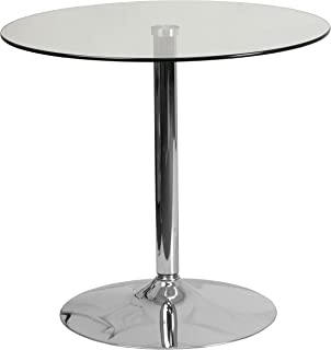 counter height dining table glass