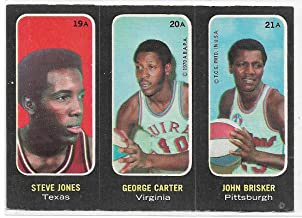 1971-72 Topps ABA Trios Basketball Steve Jones-George Carter-john Brisker Card # 19A-20A-21A Ex-Mt A