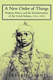 A New Order of Things: Property, Power, and the Transformation of the Creek Indians, 1733–1816