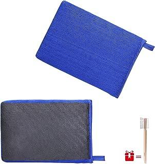 JIANFA Clay Bar Mitt, AutoScrub Fine Grade Wash Mitt Automotive Detailing Towel Wash Mitt Clay Bar Alternative, 1 Piece Blue