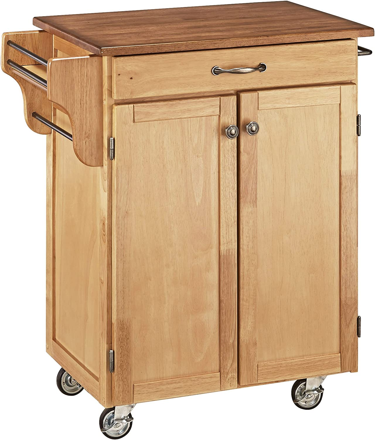 Create-a-Cart Natural Kitchen Cart with Tucson Mall by Oak Top Home Animer and price revision Styles