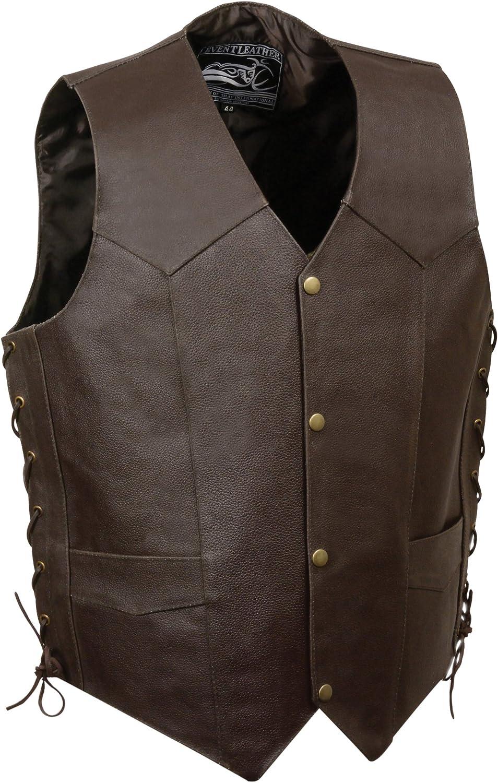 Event Leather Men's Eagle/Flag Vest