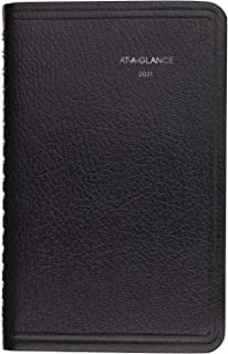 """2021 Weekly Appointment Book & Planner by AT-A-GLANCE, 4 x 6-1/2"""", Pocket Size, Tabbed Telephone/Address Pages, Texture Co..."""
