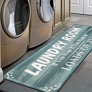 HEBE Farmhouse Laundry Runner Rug 2'x6' Washable Non Slip Kitchen Rugs Runner Extra Long Rug Runner Floor Carpet for Laund...