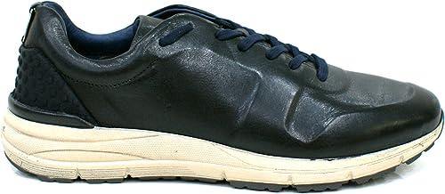 CAF negro PA101 Hombre negro Hauszapatos de Deporte de Cuero Cordones de Los Zapaños 41