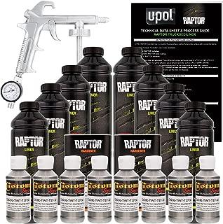 U-Pol Raptor Pewter Metallic Urethane Spray-On Truck Bed Liner Kit w/Free Spray Gun, 8 Liters