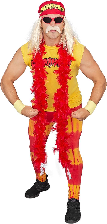 Amazon.com: Hulk Hogan Hulkamania Adult Complete Costume Set ...
