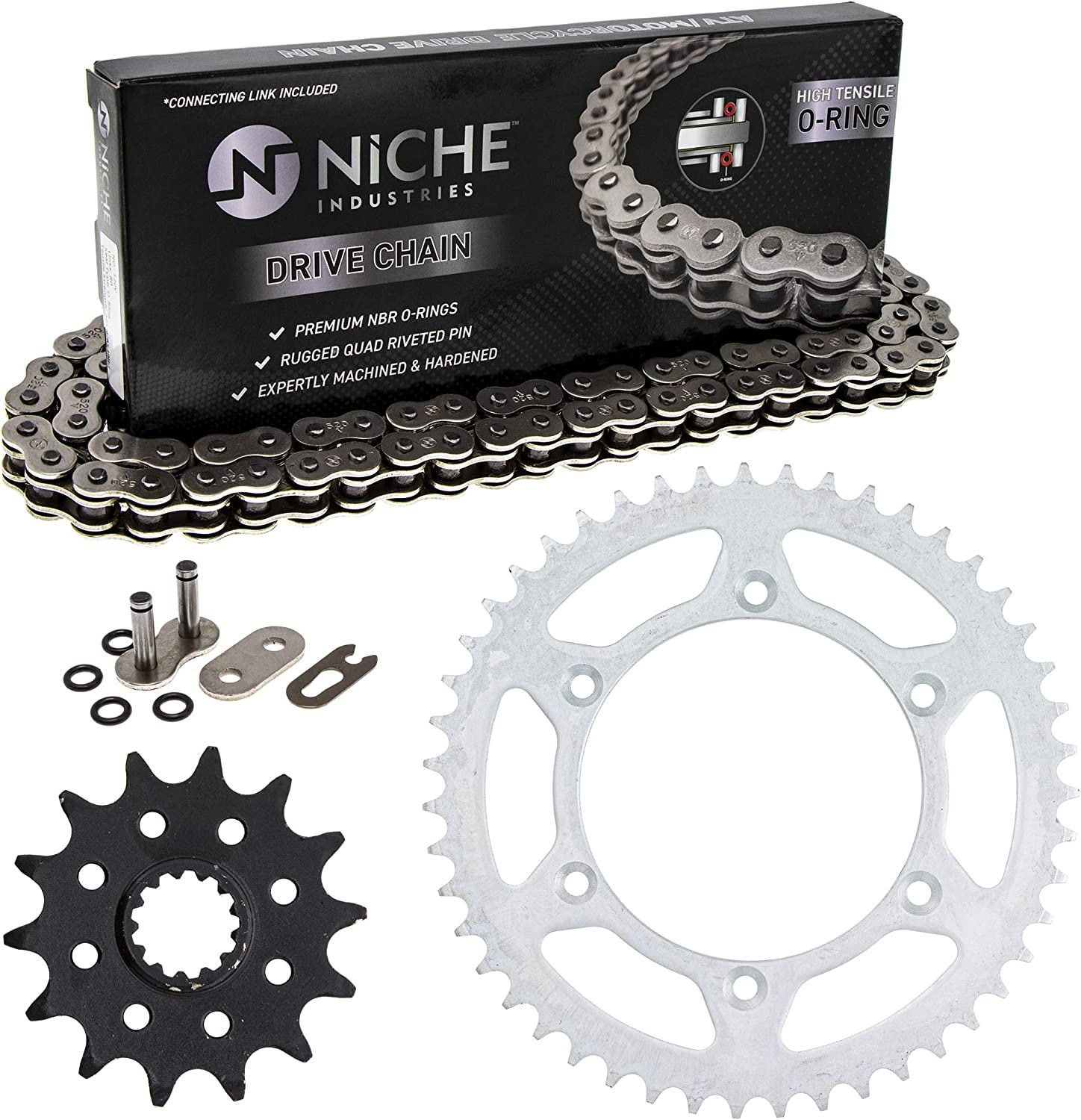 NICHE Drive Sprocket Max 43% OFF Ranking TOP14 Chain Combo for Front DR350 14 Rear Suzuki