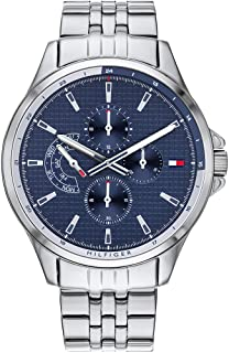 Tommy Hilfiger 1791612 Mens Quartz Watch, Analog Display and Stainless Steel Strap, Blue