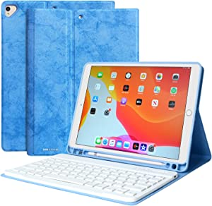 iPad Keyboard Case 10.2 8th Generation 7th Gen iPad Case with Keyboard,Pencil Holder, Magnetic Detachable Bluetooth Keyboard for iPad 8th Gen 7th Gen Air 3 Pro 10.5