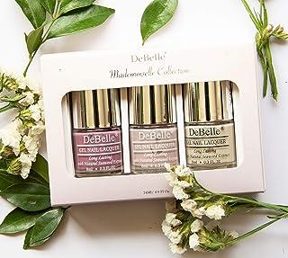 DeBelle Mademoiselle Classic Nudes Nail Polish gift set of 3 (Light Mauve,Pastel Purple,Light Nude), 24 ml (8 ml each)