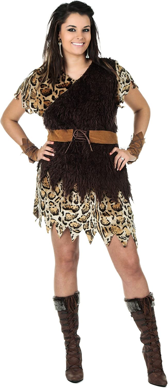gran descuento Plus Talla Cavewoman Fancy dress dress dress costume 1X  Vuelta de 10 dias