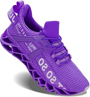 Womens Non Slip Running Shoes Lightweight Breathable Mesh Sneakers Athletic Gym Sports Walking Shoes