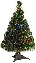 National Tree 24 Inch Fiber Optic Ice Tree in Green Stand (SZI7-172-24B-1)