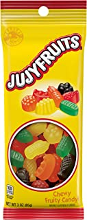 Jujyfruit Chewy Candy, Lime, Raspberry, Lemon, Orange and Licorice, 3 Ounce (Pack of 8)