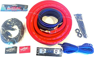 Oversized 1/0 Ga CCA AWG Amp Kit Twisted RCA Red Black Complete Sky High