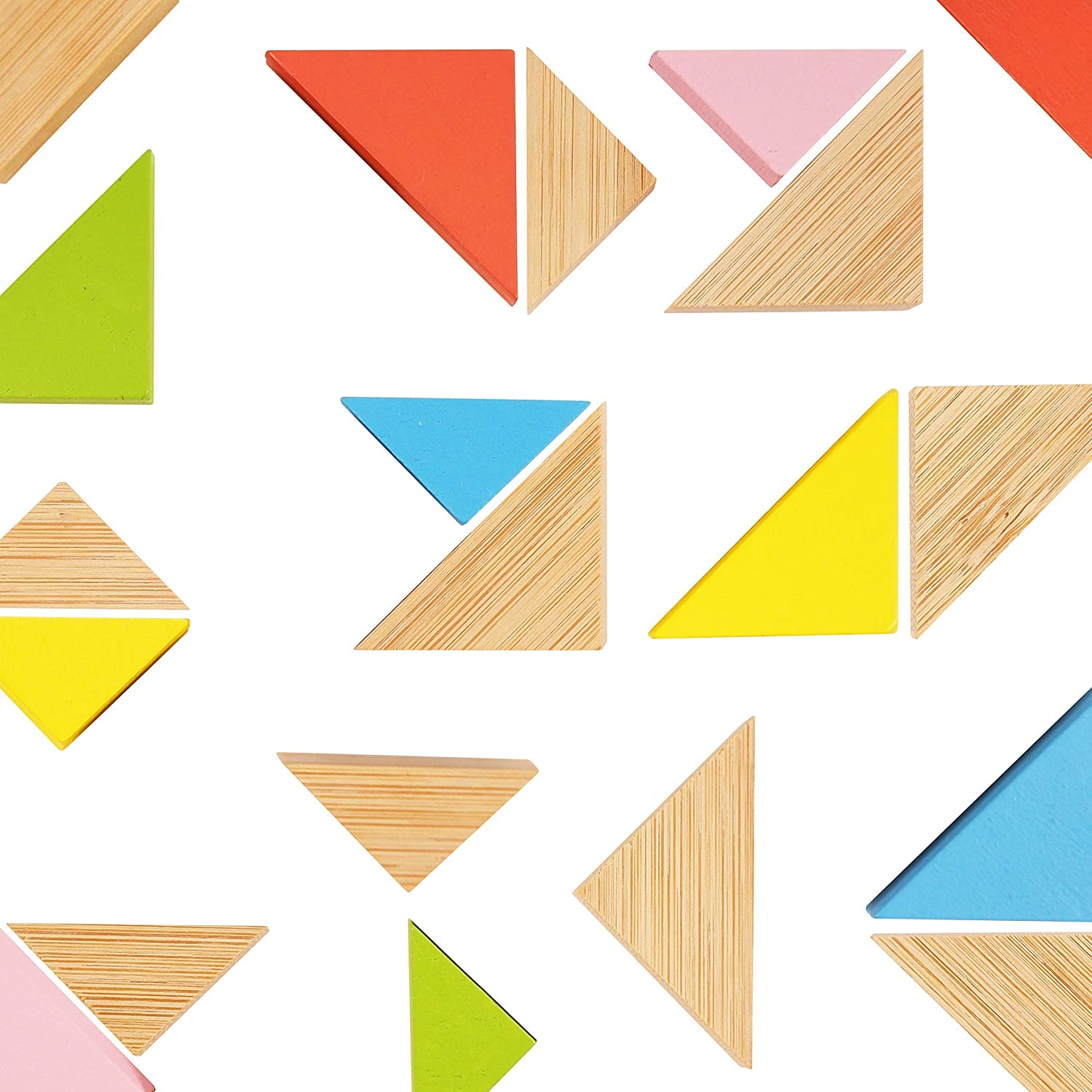 Free shipping on Deluxe posting reviews Pack of 20 Multi-Colored Triangle - Cute Bamboo Sturdy Magnets