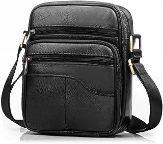 SPAHER Men Leather Handbag Shoulder Bag Satchel Business Messenger Backpack Crossbody Casual Tote Sling Travelling Bag For...