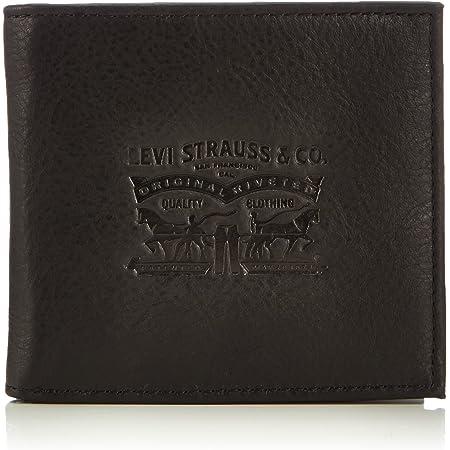 LEVIS FOOTWEAR AND ACCESSORIES Vintage Two Horse Bifold, Monedero Unisex Adulto, Negro, 2x10x11 cm (W x H x L)