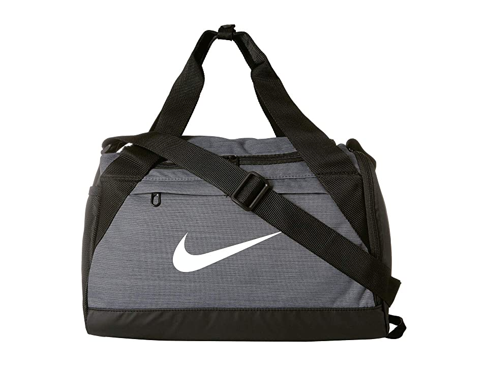 6b3329d641 Nike Brasilia Extra Small Training Duffel Bag (Flint Grey Black White)  Duffel