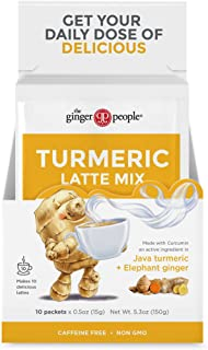 The Ginger People Turmeric Latte Mix-10 Sachets, Ginger, 5 Oz