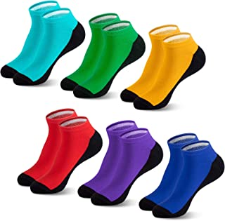 Newdora 6 Pares de Calcetines Cortos para Hombre, Calcetines Deporte de Algodón, Calcetines tobilleros Transpirable invisi...