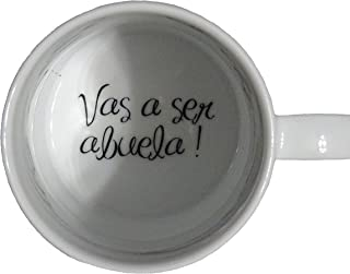 Vas a ser abuela, You're Going to be a Grandma Coffee Mug, Pregnancy Announcement, pregnancy reveal, Bottom, hidden message, secret message, Coffe cup