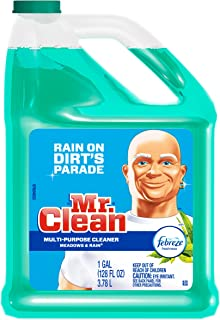 Mr. Clean Meadows & Rain Multi-Surface Cleaner with Febreze, 128 fl oz (1)
